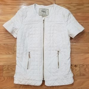 Zara Trafaluc Quilted White Jacket Small